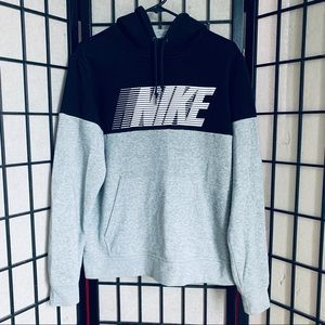 Nike spell out pullover hoodie VTG Colorblock sz M